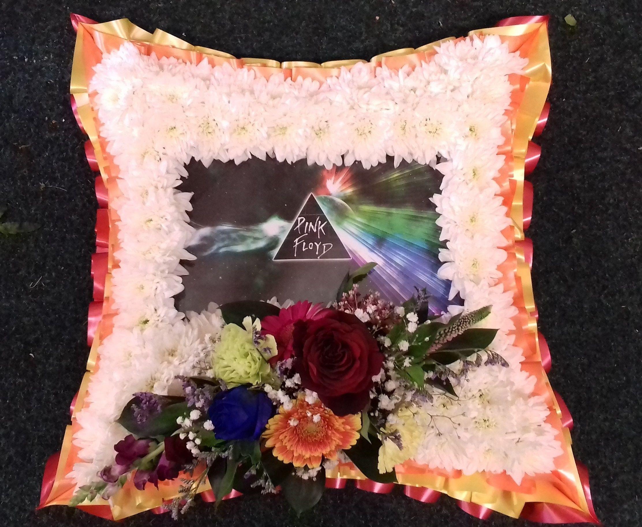 Funeral flowers floralcraft flowers pink floyd funeral tribute flowers dad izmirmasajfo