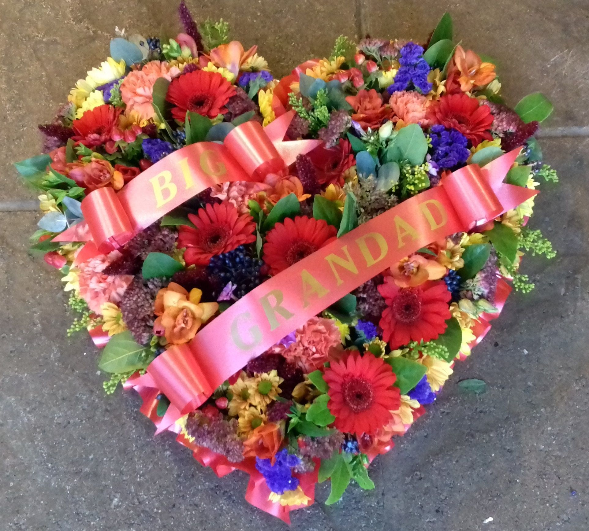 Funeral flowers floralcraft heart flowers funeral tribute izmirmasajfo